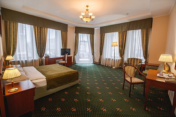 JUNIOR  SUITE (HALF-LUX) WITH BALCONY AND ONE KING SIZE DOUBLE BED
